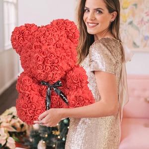 Image 5 - 2020 저렴 한 빨간 곰 로즈 테 디 베어 장미 꽃 인공 장식 생일 크리스마스 선물 여자 발렌타인 선물