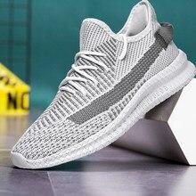 Novo verão dos homens sapatos casuais tênis de malha grande tamanho luz moda branco cinza 48 moda respirável esportes ao ar livre andando