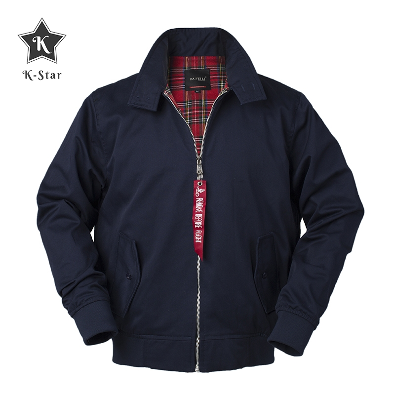 K-Star Autumn Harrington Vintage Windbreaker Bomber Jacket Men European Style Military Cotton Casual Waterproof Safari