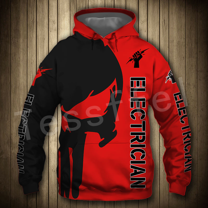 Tessffel Newest Worker Tool Electrician ironworker Tracksuit Funny NewFashion Pullover 3DPrint Zip/Hoodies/Sweatshirts/Jacket A4