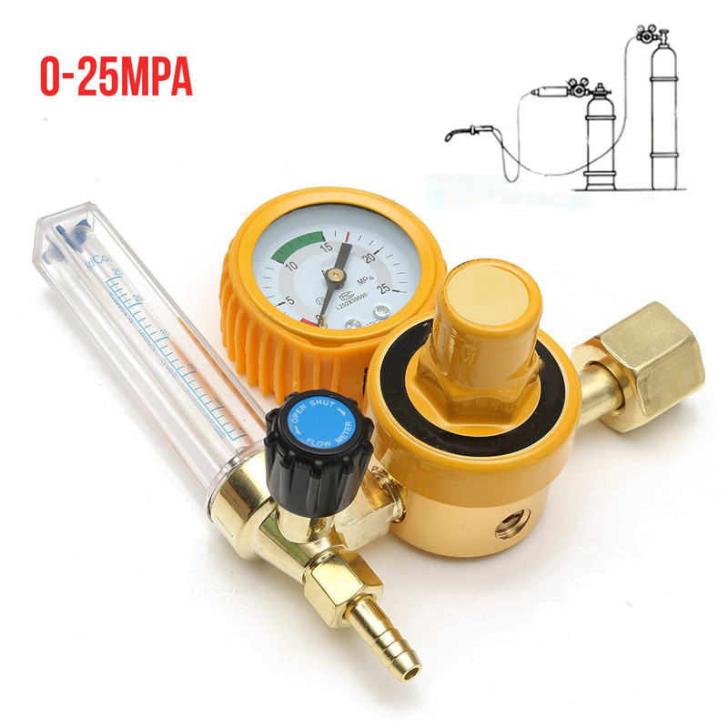 0-25Mpa Argon CO2 Flow Meter Gas Regulator Flowmeter Welding Weld Gauge Argon Regulator Oxygen Pressure Reducer