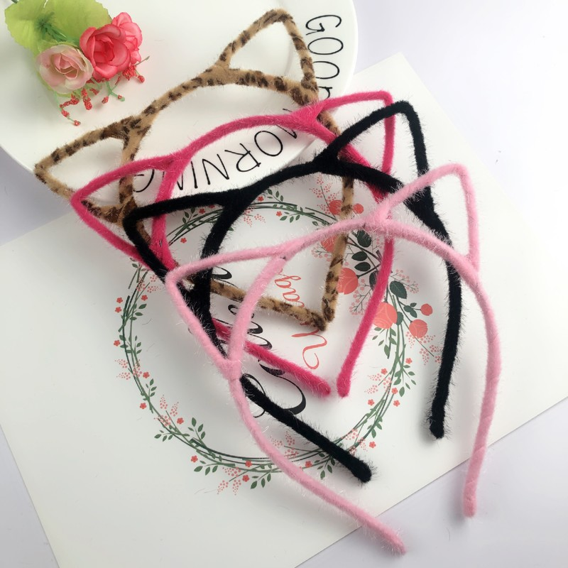 Hair-Accessories Scrunchy Headband Hair-Band Cat-Ear Plastic Sexy Cute Cloth Girls  title=