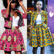 women African Clothes 2020 News Coats Tutu Skirts Ankara Style Dashiki Print African Dresses For lady Robes Africaine for female(China)