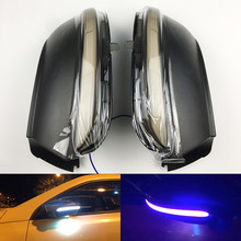 LED Side Wing Dynamic Turn Signal Light For VW Passat CC B7 Beetle Scirocco Jetta MK6 Euro Rearview Mirror Indicator(China)
