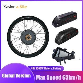 Pasion e Bike Kit Mit Batterie 1500W Electric Bike Conversion Kit Mit Batterie 52V 30AH Elektrische Fahrrad Motor rad Mit Batterie