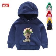 Boy Autumn Long Sleeves Cartoon Hoodies Sweatshirts Clothes Children Groot Print Hoodies Girl Baby Long Sleeves 3T Sweatshirts