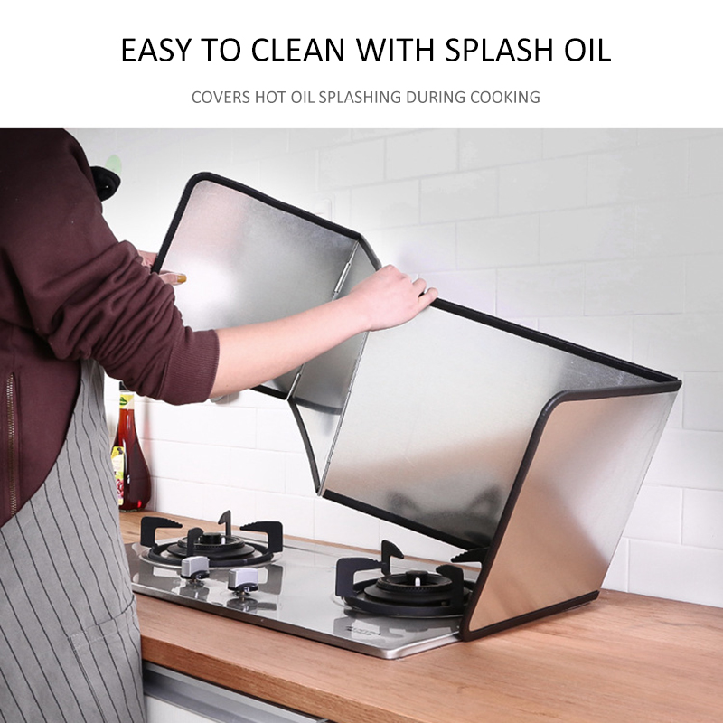 Galvanized sheet folding kitchen oil baffle cookware screen oil pan gadget set kitchen cooking tool oil baffle