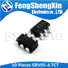 10 pçs/lote SRV05-4.TCT SOT23-6 SRV05 Código: V05 SRV05-4 SOT23-6 TVS DIODE