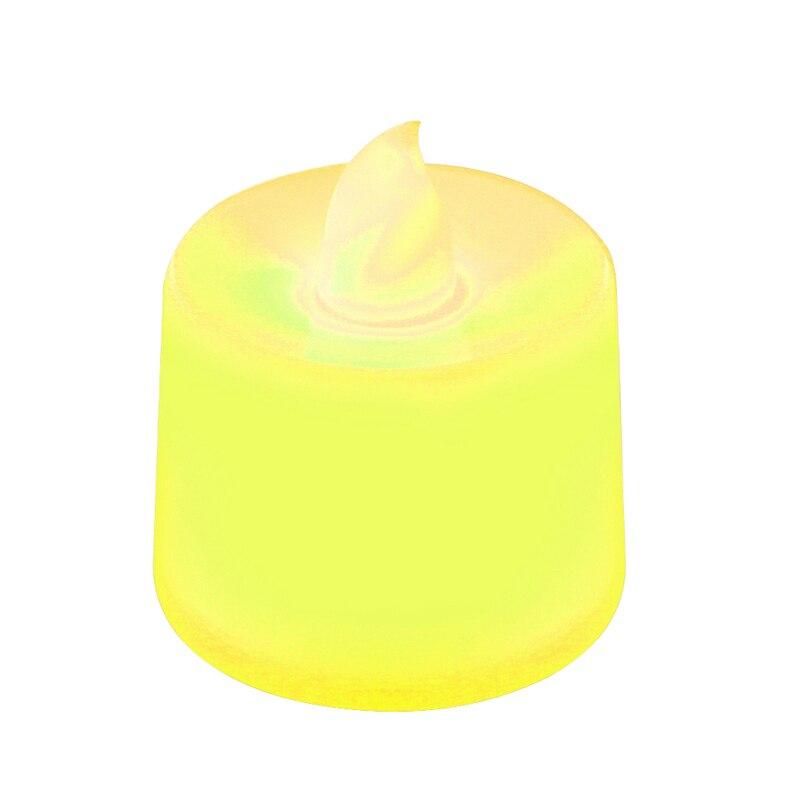 Батареи в комплекте чайный свет мерцающий беспламенный светодиодный свечи Буги велы электрические свечи Chandelle Свадебные украшения - Цвет: Цвет: желтый