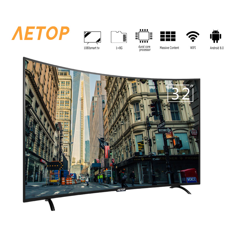free shipping-matrix tv 32 inch tv android 2k smart television curve flat screen tv