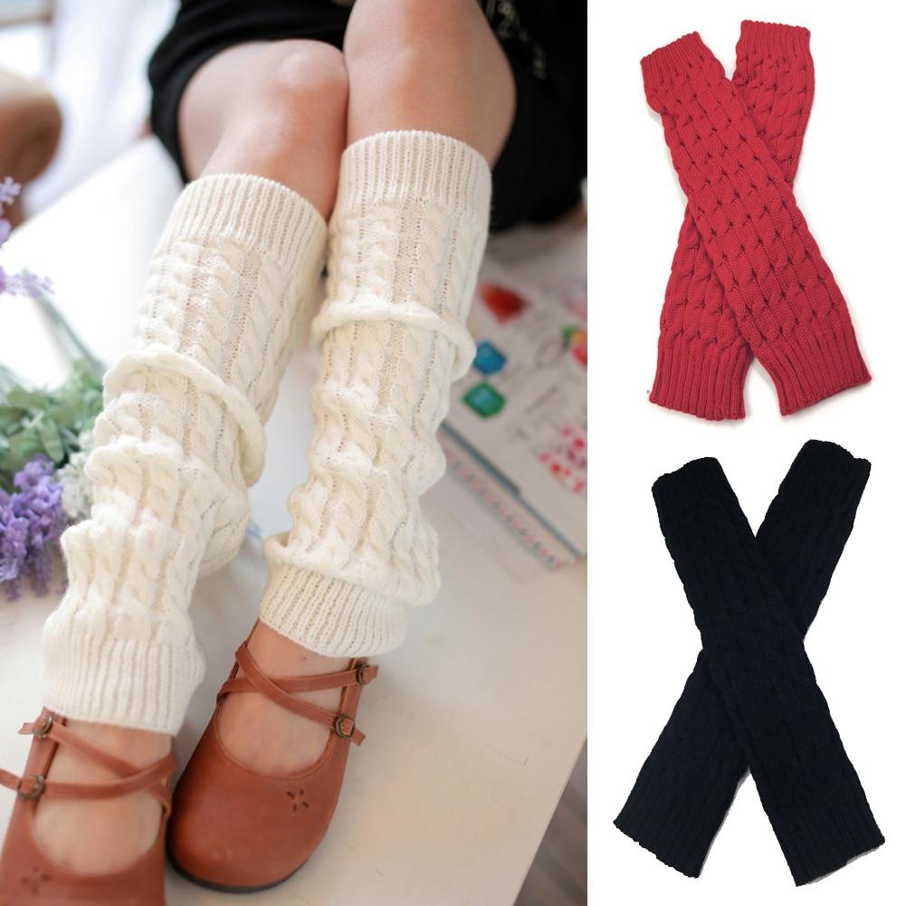 Fashion Popular Women Winter Knitted Crochet Scok Crochet Long Boots Stockings Hot Sale High Knee Leg Warmers Long Sock Leggings