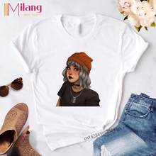 Gothic Zomer Vintage Top Zachte Meisje E Meisje Outfit Esthetische Stijl Grappige T-shirt Grafische Harajuku Mode Tees Vrouwen Kleding(China)