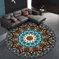 Ковер коралловый бархат компьютерный стул напольный коврик Мандала напечатанный круглый ковер для детей спальня игровой тент круглый кове...