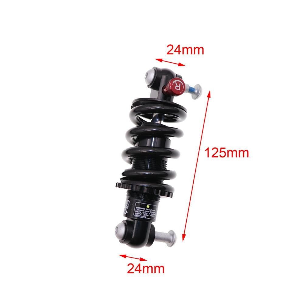 New MTB Bicycle Bike Rear Shock Adjustable Damping 750LBS//IN 165mm Black
