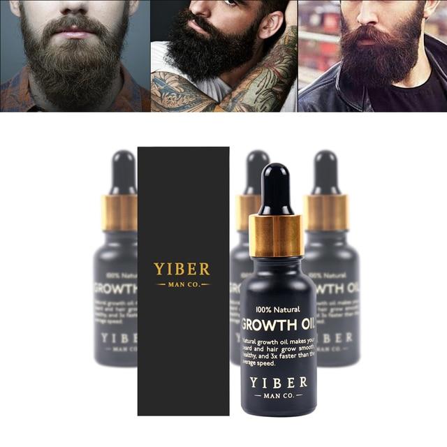 Men Beard Growth  Oil Kit Soften Hair Growth Nourishing Enhancer Beard Wax Balm Moustache Oil Leave-In Conditioner Beard Care 5