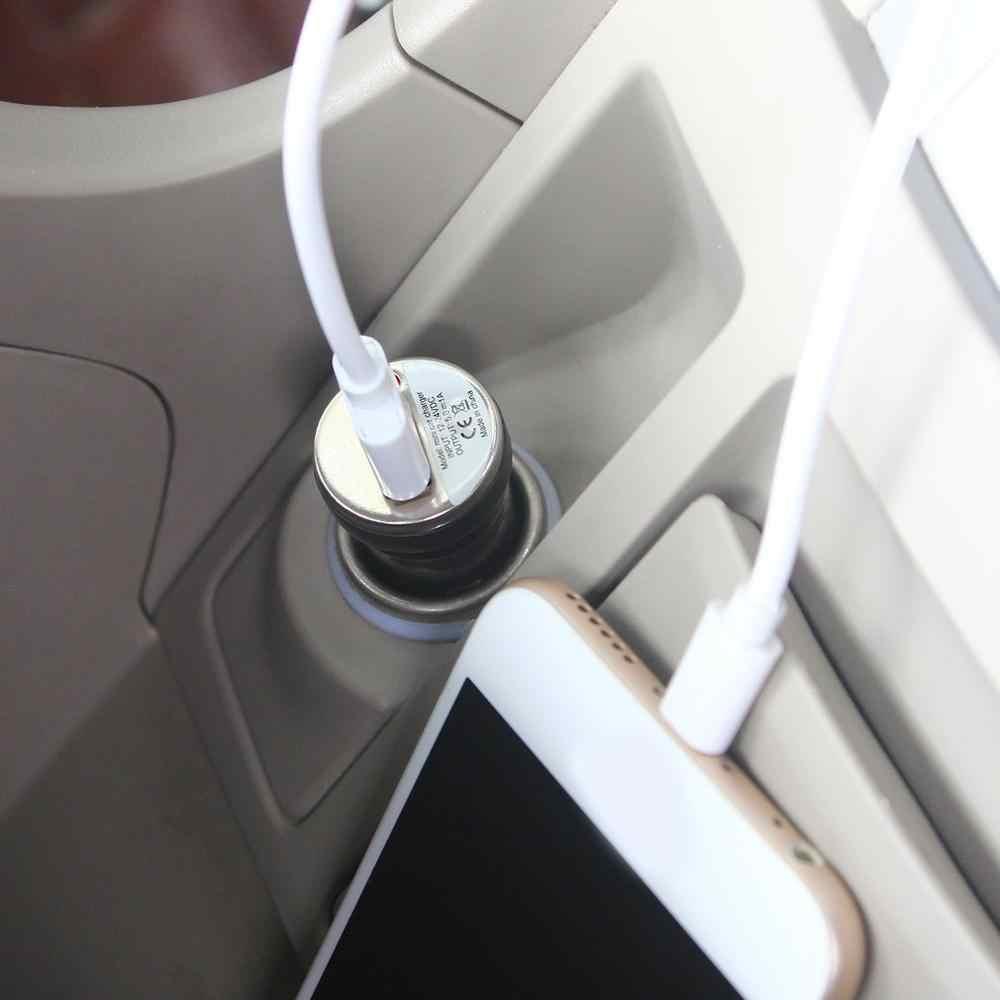 2019 شاحن سيارة USB جديد شحن محول الطاقة المدخلات 12-24 فولت تيار مستمر الناتج 5.0 فولت 1000mA لابل آي بود تاتش آيفون 4 3 جرام 4 جرام 4s