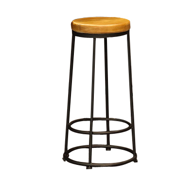 American Solid Wood Small Square Table Simple Household  Bar  Coffee Shop  And Chair Net Red Combination High Ta