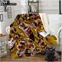 Anime Sofa Youth Bedding patterned car bee stuffed honeybee blanket bedspread baby boy girl travel blanket sofa Thin quilt A09