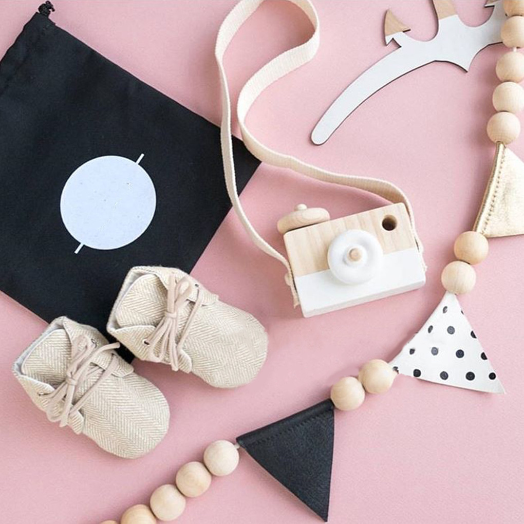 Fashion Home Photography Prop Decor Gifts Nordic Style Hanging Wooden Camera Toys Baby Kids Safe Educational Toys