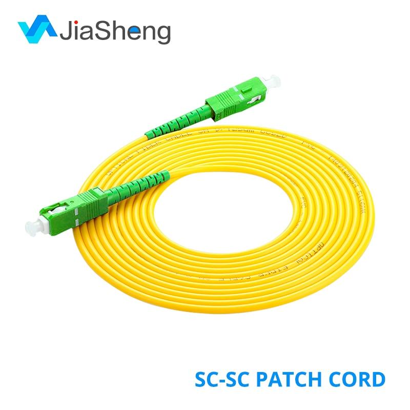 10pcs/bag SC/APC-SC/APC Simplex 3.0mm Single Mode Fiber Optic Patch Cord