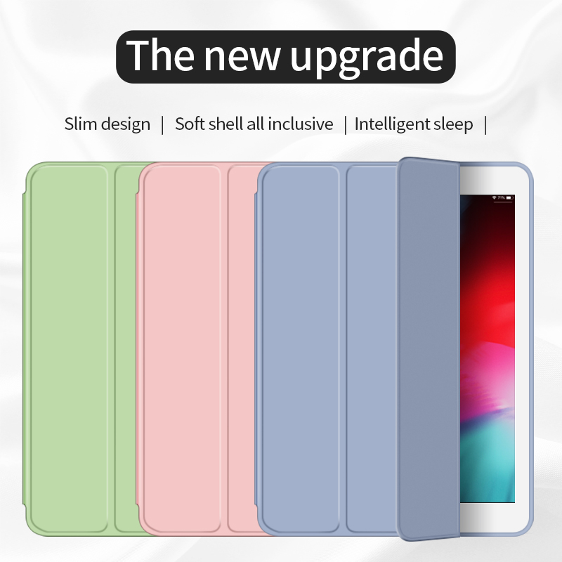 For IPad Air 2 Air 1 Case 2018 9.7 Funda Silicone Soft Back 10.5 Pu Leather Smart Case For IPad Mini 1 2 3 4 5 Generation Case