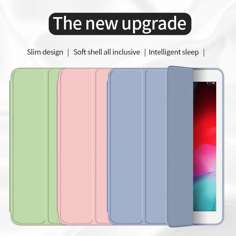 For IPad Air 2 Air 1 Case 2018 9.7 Funda Silicone Soft Back 10.5 Pu Leather Smart Case For IPad Mini 1 2 3 4 5 Generation Case