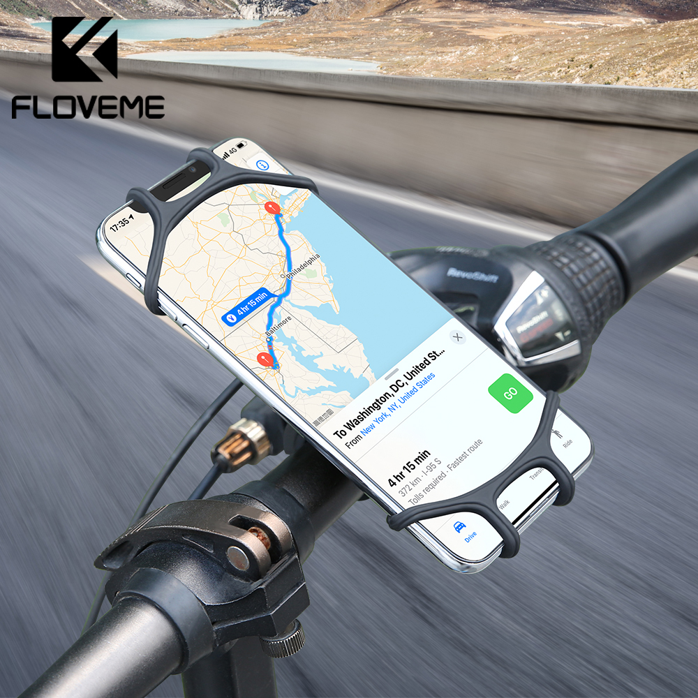 FLOVEME Bike Bicycle Phone Holder Motorcycle Holder For Mobile Phone Bike Handlebar Mount Bracket Bicycle Accessories 4''-6.5''