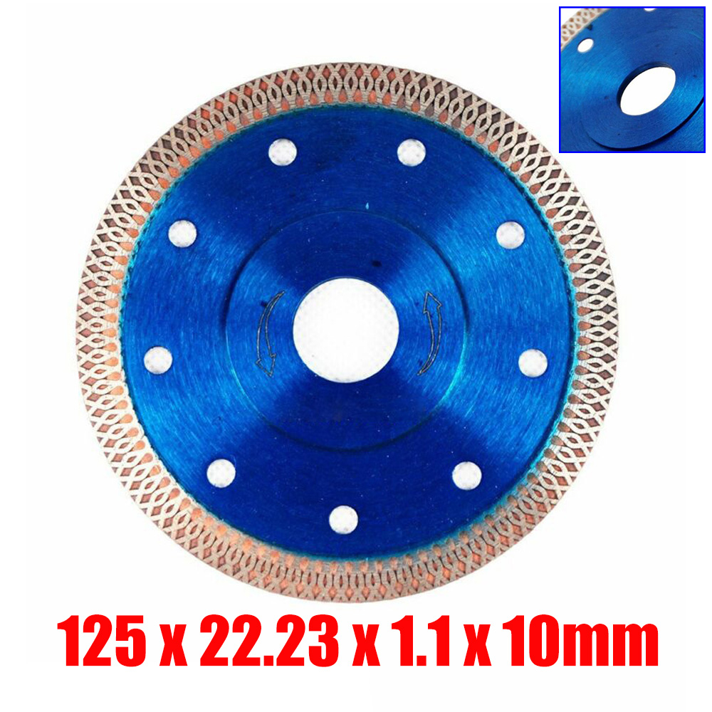Blue Turbo Diamond Circular Discs Saw Blades Cutter For Angle Grinder Tile Glass Stone Porcelain Marble Tile Ceramic Wave Style