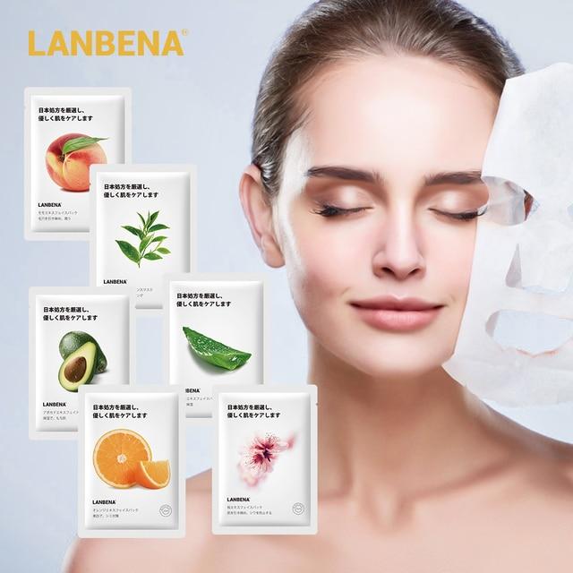 LANBENA Face Mask Fruit Facial Mask Japan Advanced Formula Whitening Moisturizing Water Locking Plant Extract Fresh Skin Care