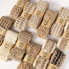 2 м/лот лента из натуральной джутовой мешковины Diy подарок варпинг пеньковая винтажная лента фестиваль украшения вечерние изделия