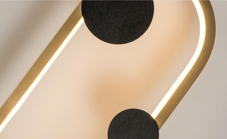 Led criativo pós lâmpada de parede moderna