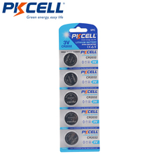 5 sztuk PKCELL CR2032 CR 2032 bateria 3V bateria litowa do zegarka komputer pilot kalkulator komórka przycisku bateria moneta