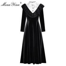 MoaaYina Fashion Designer Runway dress Autumn Women's