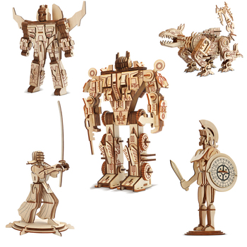 3d wooden gun army fans military enthusiasts jigsaw puzzle toy educational wooden toys for diy handmade puzzles weapon series Robot Model Wood Puzzles Laser Cutting 3D Wooden Jigsaw Puzzle Educational Toys DIY Indoor Handmade Boys Toy For Kids Adults