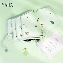 YADA Luxury Cartoon Fruit Avocado Umbrella Clear Folding Automatic Umbrellas For Children Women UV Lovely Rain Umbrella YD200037