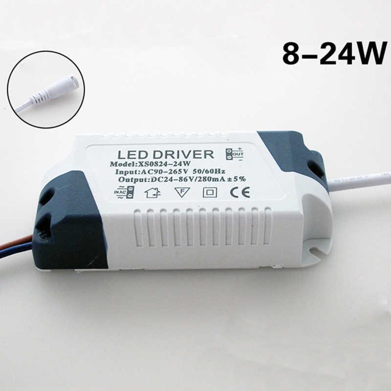 مجموعة LED سائق 1 قطعة 8-18 W/8-24 W ضوء مصباح للطريق امدادات الطاقة سائق للماء 300mA LED 90-265V Transformator العلامة التجارية