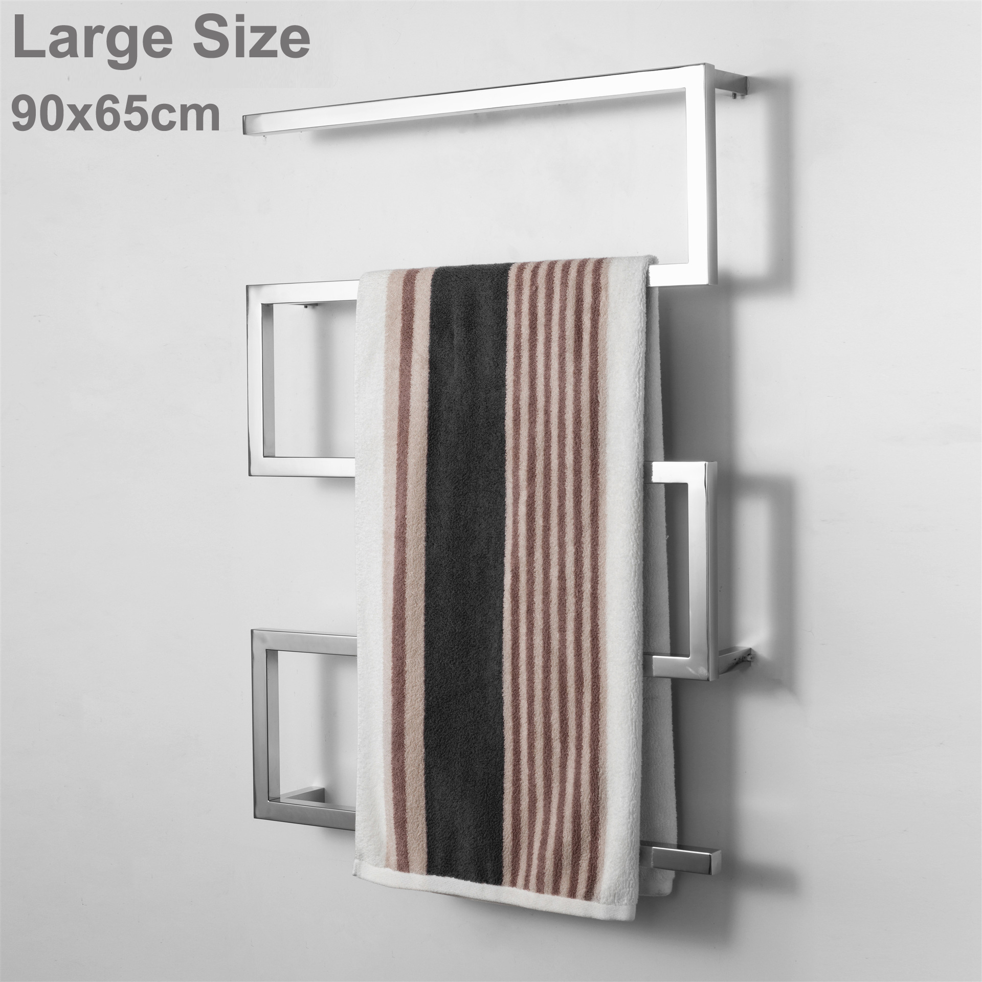 Enthusiastic Hide Wall Install Bow Shaped Bathroom Electric Towel Rack 90x65cm 304 Stainless Steel Shower Room Heated Towel Warmer Rack Pure And Mild Flavor