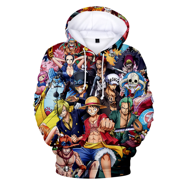 ONE PIECE 3D THEMED HOODIE (11 VARIAN)