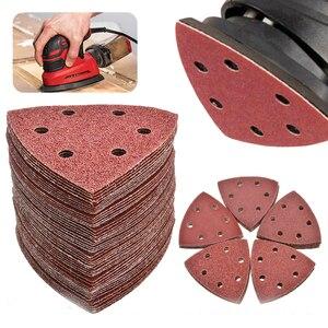100 шт. треугольное шлифование диск 90 мм Delta Sander Крюк & Петля абразивная Шкурка наждачная инструменты для шлифовки зернистости 40-2000