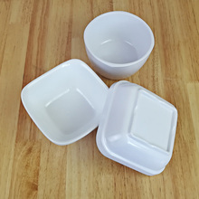 New Fashion Bowl Melamine Dinnerware Square Fast Food Restaurant With A5 Tableware