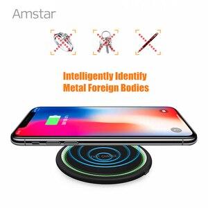 Image 5 - Amstar 15W chargeur sans fil Qi Certification rapide chargeur sans fil pour iPhone 11 Pro XS X XR Samsung S10 S9 Xiaomi 9 Huawei