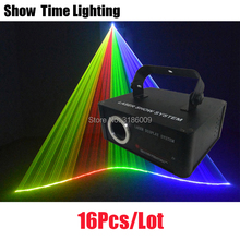 16Pcs/lot Good Effect In Christmas Dj Light Disco Laser RGB Cartoon Beam Line Scanner Use For Home Party KTV Night Club