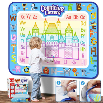 Water Drawing Mat Educational Game Girls Painting Toys Creative Kid Coloring Book Diy Draw Toy Board Doodle Set For Children kid water drawing mat doodle board