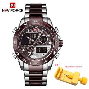 Image 2 - Naviforce homens relógio digital led esporte militar dos homens de quartzo relógio de pulso masculino luminoso à prova dwaterproof água relógios relogio masculino