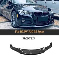 Carbon Fiber Car Front Bumper Lip Spoiler Splitter für BMW F30 F35 M Sport 2012-2018 Vordere Flossen Schürze
