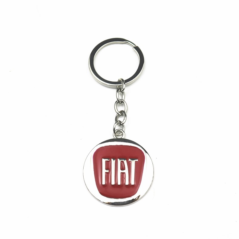 3D Metal Alloy Car Styling Fashion Keychain Key Chain Key Rings For Fiat 500 500x Ducato Tipo Panda Bravo Doblo Stilo Freemont