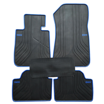Rubber Car Floor Mats for BMW 1 Series F20 2012-2018 Year Special No Odor Carpets Waterproof Rugs special rubber car floor mats for volkswagen golf 5 6 7 5 gti 6gti 7gti no odor waterproof carpets