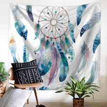 Simanfei Tapestry Watercolor Dreamcatcher Printed Living Room Bedroom Wall Hanging Home Decoration Beach Towel Blanket цены