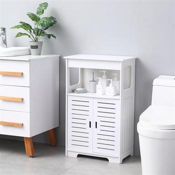 Double Door Double Compartment 80 High Storage Cabinet ,bathroom Cabinet Pvc (50x30x80)cm bathroom furniture storage cabinet