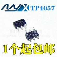 10 pçs/lote Novo TP4057 57BA 57B0 57B carregamento da bateria de lítio IC 500mA remendo SOT-23-6